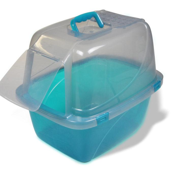 Large Translucent Enclosed Cat Pan (product)