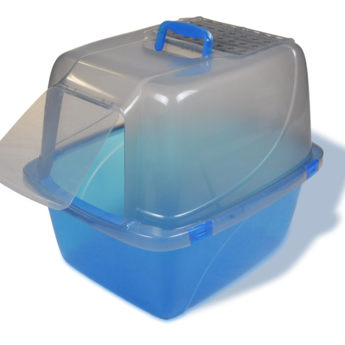 Extra-Large Translucent Enclosed Cat Pan (product)