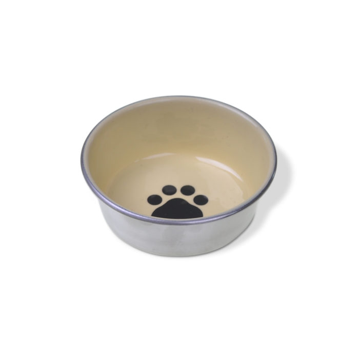 Decorated Stainless Cat Dish