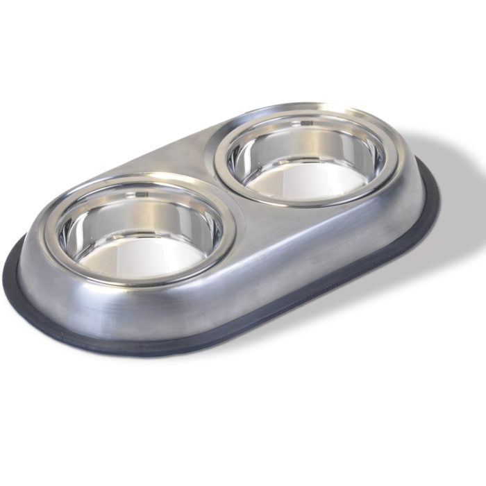 Heavyweight Small Stainless Steel Double Dish